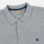 Мужское поло Carhartt WIP SS Slim Fit Grey Heather/Blue фото- 1
