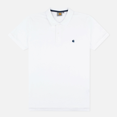 Carhartt WIP SS Slim Fit Men's Polo White/Blue