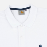 Мужское поло Carhartt WIP SS Slim Fit White/Blue фото- 1