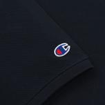 Мужское поло Champion Reverse Weave Logo Left Sleeve Navy фото- 3