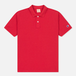 Мужское поло Champion Reverse Weave Logo Left Sleeve Red фото- 0