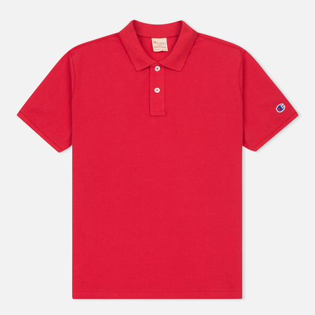 Мужское поло Champion Reverse Weave Logo Left Sleeve Red