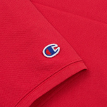 Мужское поло Champion Reverse Weave Logo Left Sleeve Red фото- 3