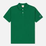 Мужское поло Champion Reverse Weave Logo Left Sleeve Verdent Green фото- 0