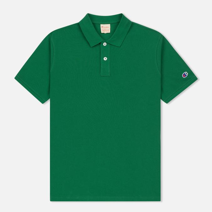 Мужское поло Champion Reverse Weave Logo Left Sleeve Verdent Green