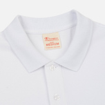 Мужское поло Champion Reverse Weave Logo Left Sleeve White фото- 1
