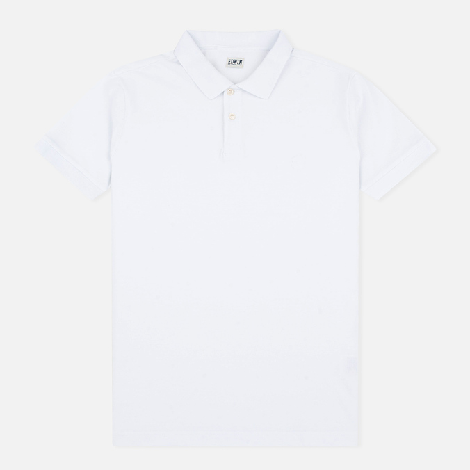 Edwin Classic Cotton Men's Polo White