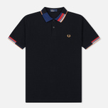 Мужское поло Fred Perry Abstract Collar Pique Black фото- 0