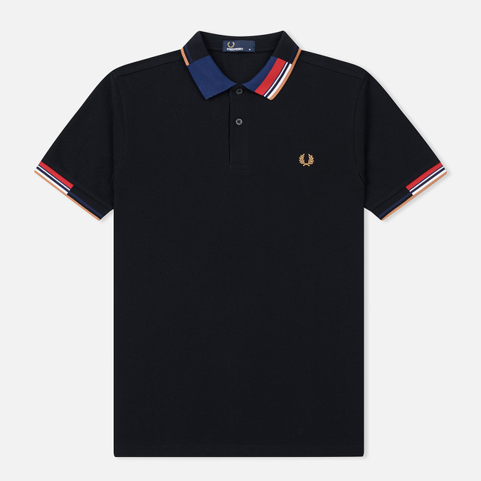 Мужское поло Fred Perry Abstract Collar Pique Black