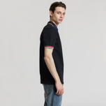 Мужское поло Fred Perry Abstract Collar Pique Black фото- 2