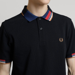 Мужское поло Fred Perry Abstract Collar Pique Black фото- 3