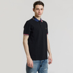 Мужское поло Fred Perry Abstract Collar Pique Black фото- 1