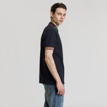 Мужское поло Fred Perry Abstract Collar Pique Navy фото- 2