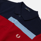 Мужское поло Fred Perry Abstract Panel Carbon Blue фото - 1