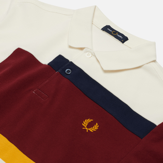 Мужское поло Fred Perry Abstract Panel Snow White