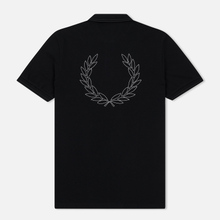 Мужское поло Fred Perry Authentic Embroidered Laurel Black фото- 1