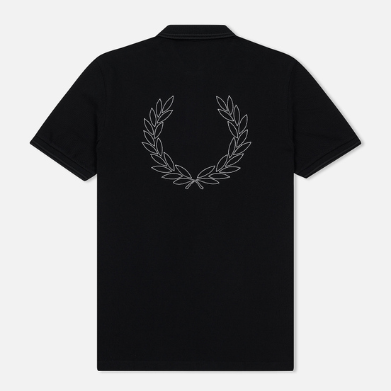 Мужское поло Fred Perry Authentic Embroidered Laurel Black