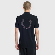 Мужское поло Fred Perry Authentic Embroidered Laurel Black фото- 3