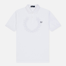 Мужское поло Fred Perry Authentic Embroidered Laurel White фото- 0