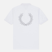 Мужское поло Fred Perry Authentic Embroidered Laurel White фото- 1