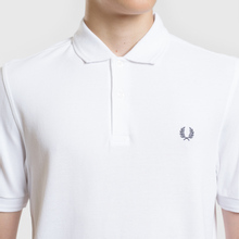 Мужское поло Fred Perry Authentic Embroidered Laurel White фото- 4