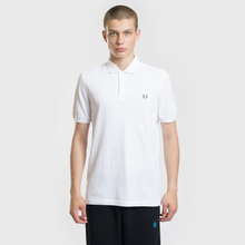 Мужское поло Fred Perry Authentic Embroidered Laurel White фото- 2