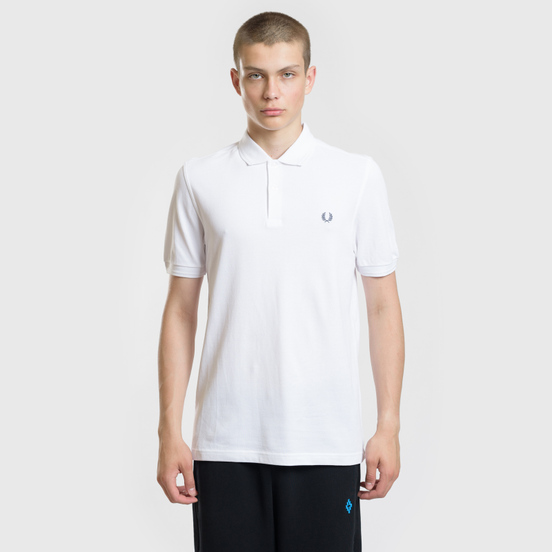 Мужское поло Fred Perry Authentic Embroidered Laurel White