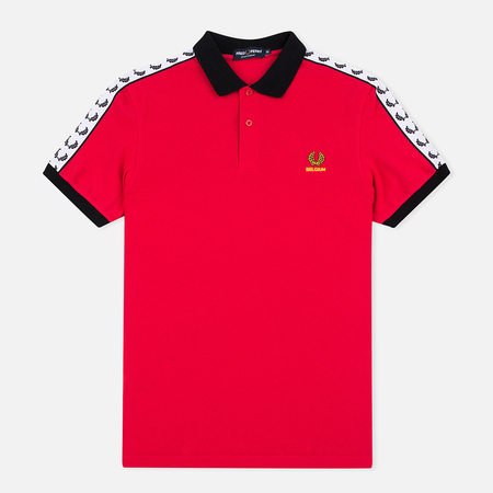 Fred Perry Men's Polo Belgium Country Red