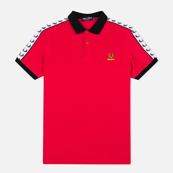 Мужское поло Fred Perry Belgium Country Red
