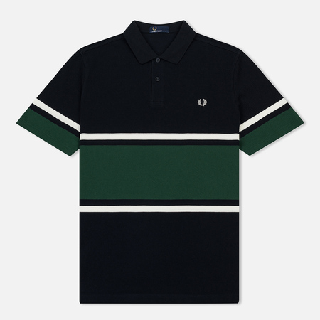 Мужское поло Fred Perry Bold Fine Stripe Pique Navy