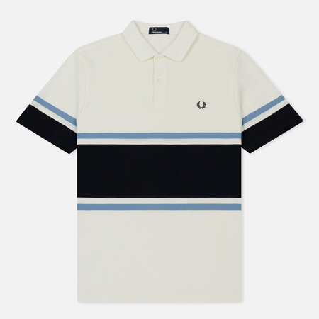 Мужское поло Fred Perry Bold Fine Stripe Pique Snow White