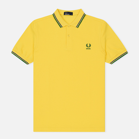 Мужское поло Fred Perry Brazil Country 2018 Vibrant Yellow