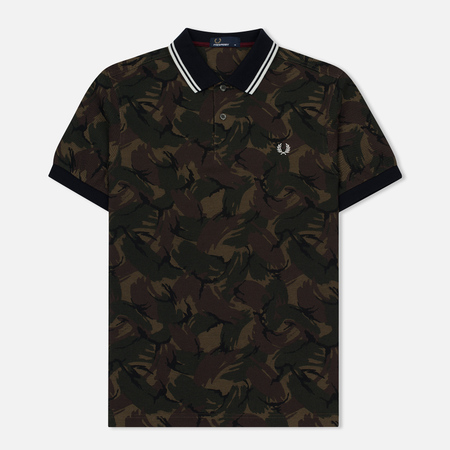 Мужское поло Fred Perry Camouflage Pique Twill