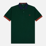 Мужское поло Fred Perry Colour Block Pique Ivy фото- 0