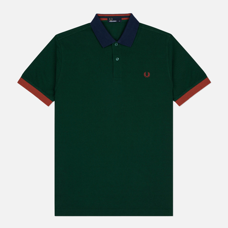 Fred Perry Colour Block Men's Polo Pique Ivy