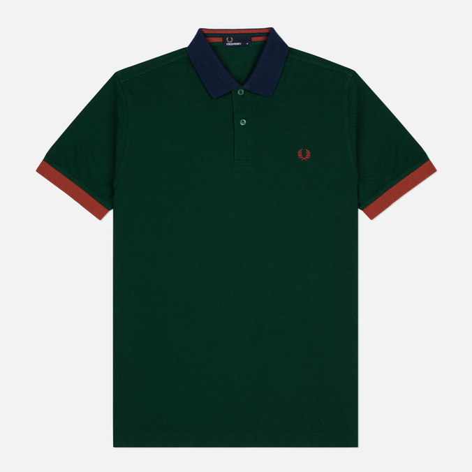 Мужское поло Fred Perry Colour Block Pique Ivy