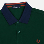 Мужское поло Fred Perry Colour Block Pique Ivy фото- 1