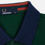 Мужское поло Fred Perry Colour Block Pique Ivy фото- 3