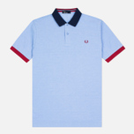 Мужское поло Fred Perry Colour Block Pique Light Smoke фото- 0