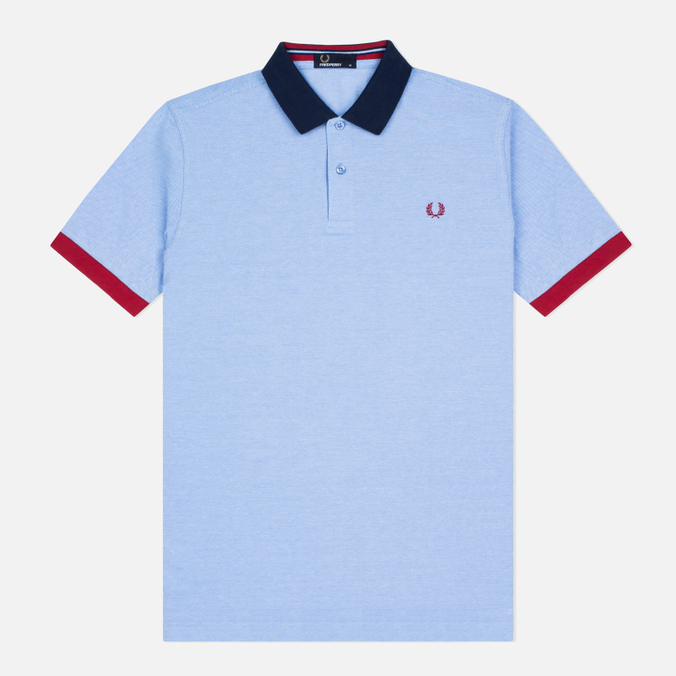 Мужское поло Fred Perry Colour Block Pique Light Smoke