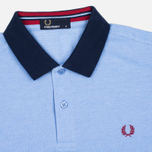 Мужское поло Fred Perry Colour Block Pique Light Smoke фото- 1