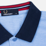 Мужское поло Fred Perry Colour Block Pique Light Smoke фото- 3