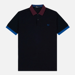 Мужское поло Fred Perry Colour Block Pique Navy фото- 0
