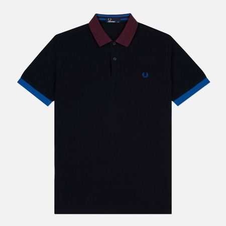 Fred Perry Colour Block Men's Polo Pique Navy