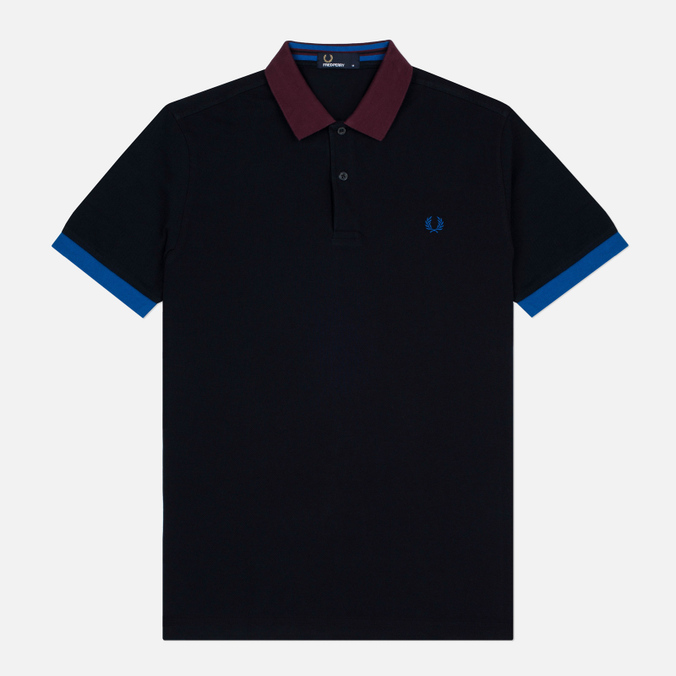 Мужское поло Fred Perry Colour Block Pique Navy