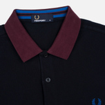 Мужское поло Fred Perry Colour Block Pique Navy фото- 1