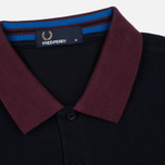 Мужское поло Fred Perry Colour Block Pique Navy фото- 3