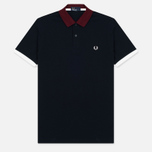 Мужское поло Fred Perry Colour Block Pique Navy/Red/Grey фото- 0