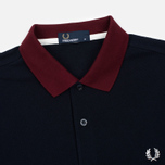 Мужское поло Fred Perry Colour Block Pique Navy/Red/Grey фото- 1