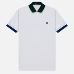 Мужское поло Fred Perry Colour Block Pique White фото- 0